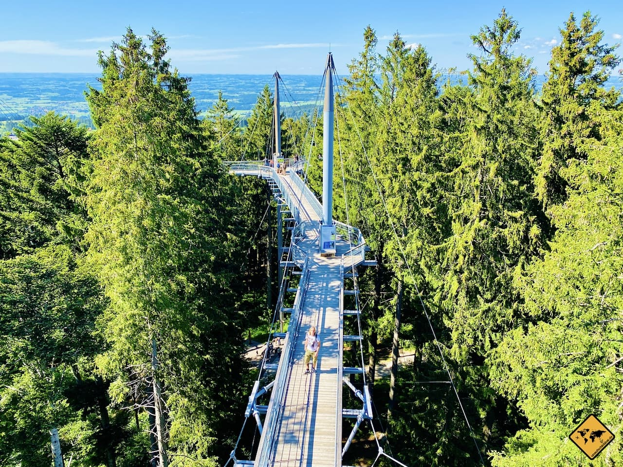 Skywalk Allgäu Hängebrücke Ausblick Aussichtsturm