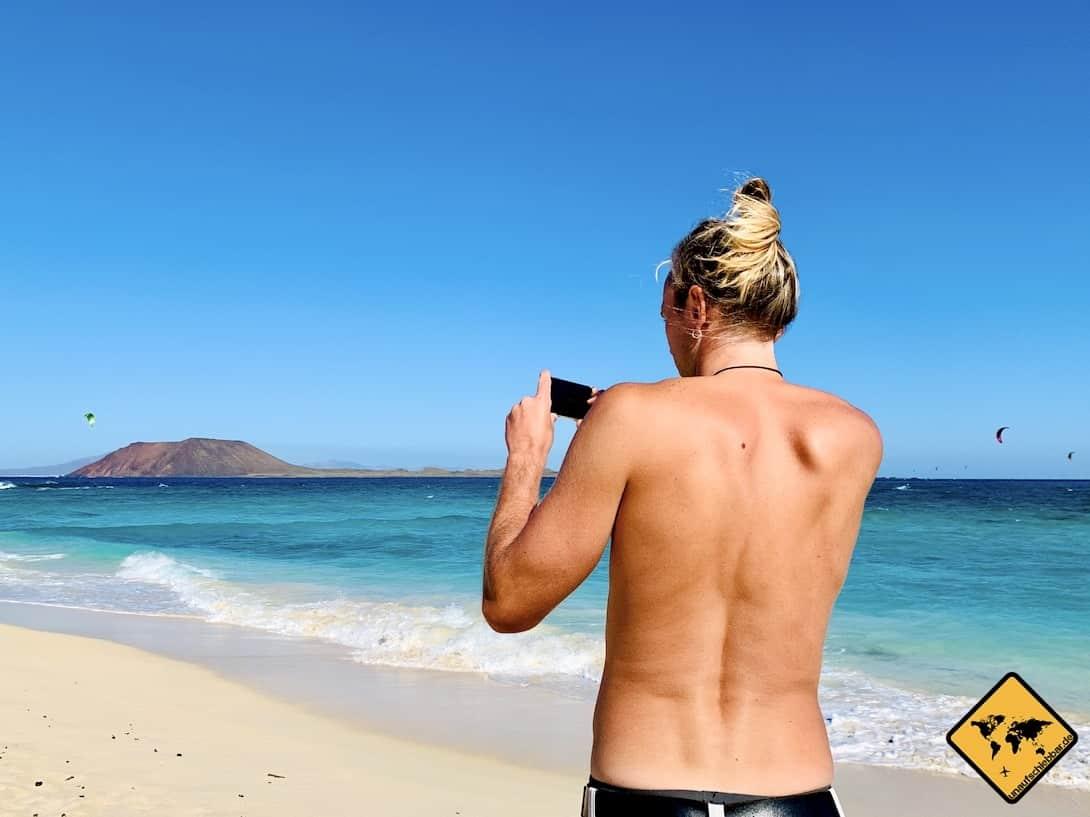 Smartphone Fotografie Strand Fuerteventura