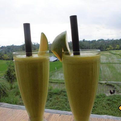 Smoothies im Garlik Organik Restaurant Ubud