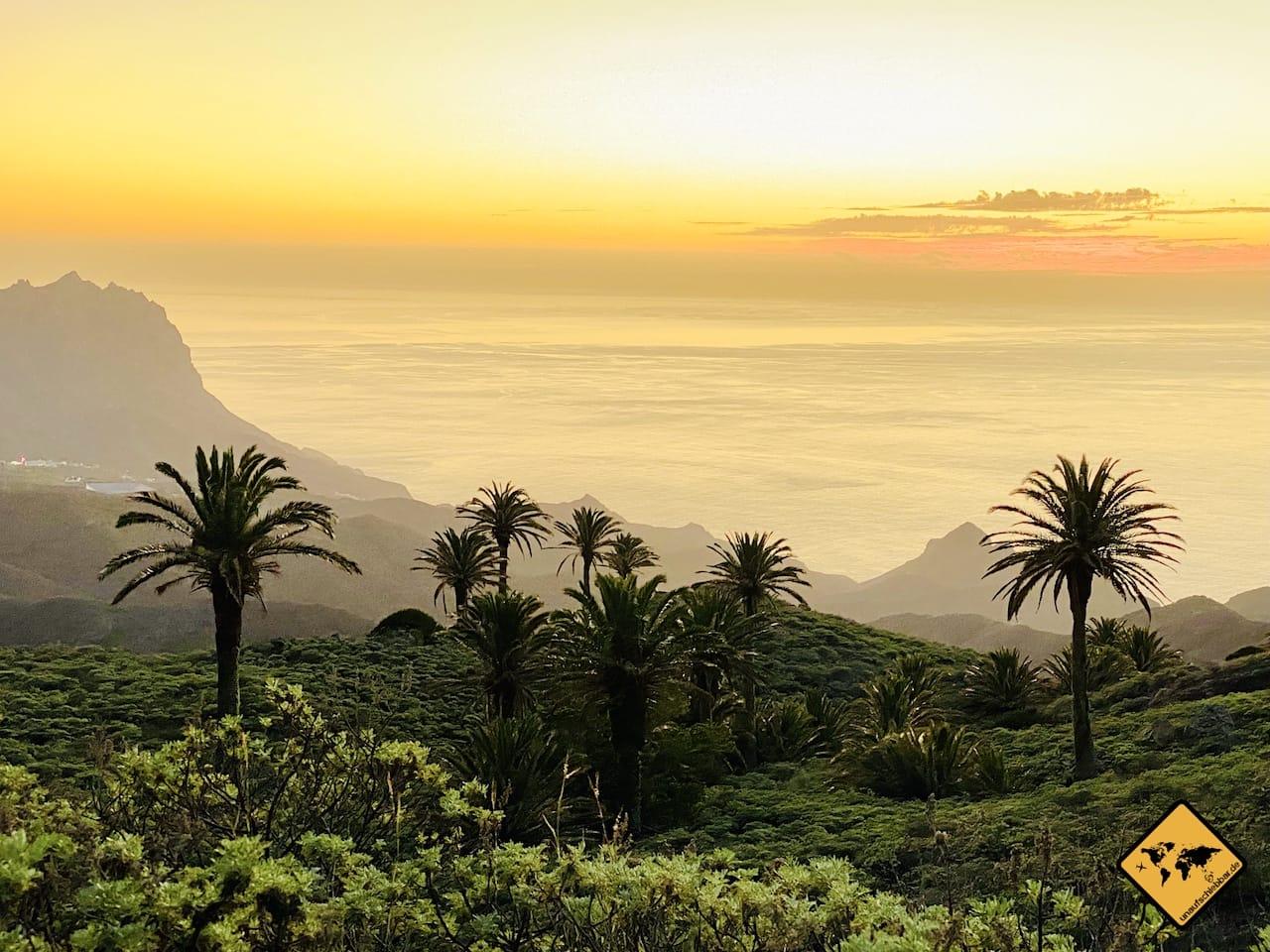Sonnenuntergang Arguamul La Gomera