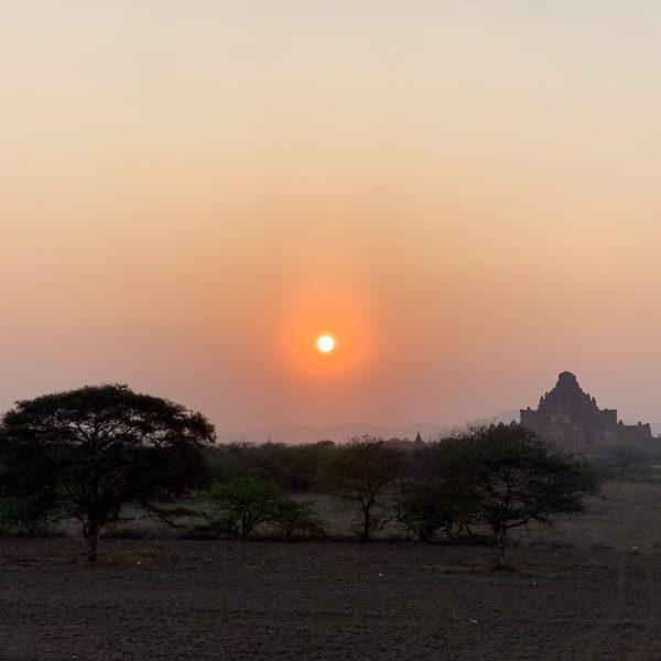 Sonnenuntergang Bagan Sulamuni Manmade Sunset Hill