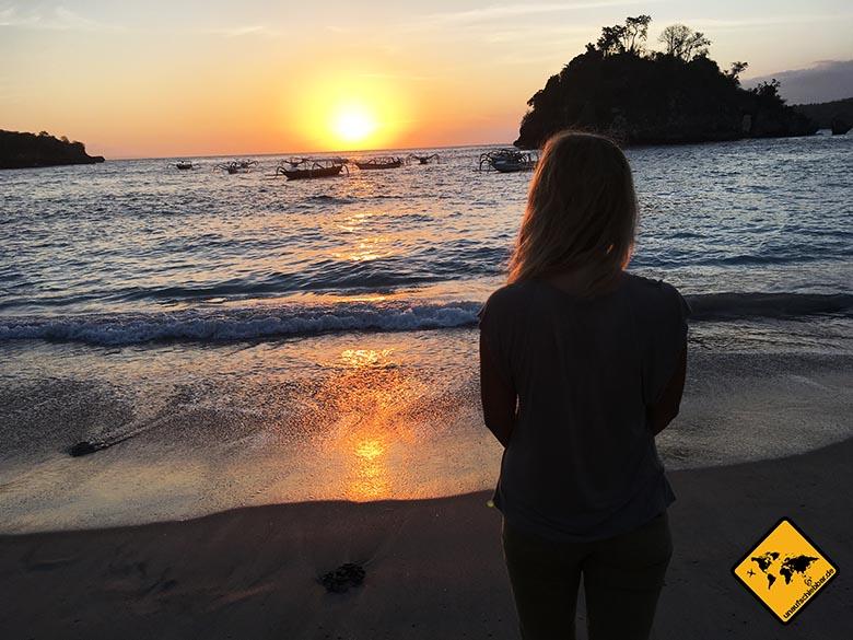 Sonnenuntergang Crystal Bay Bali