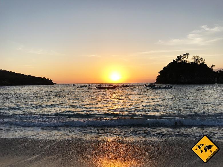 Sonnenuntergang Crystal Bay Nusa Penida