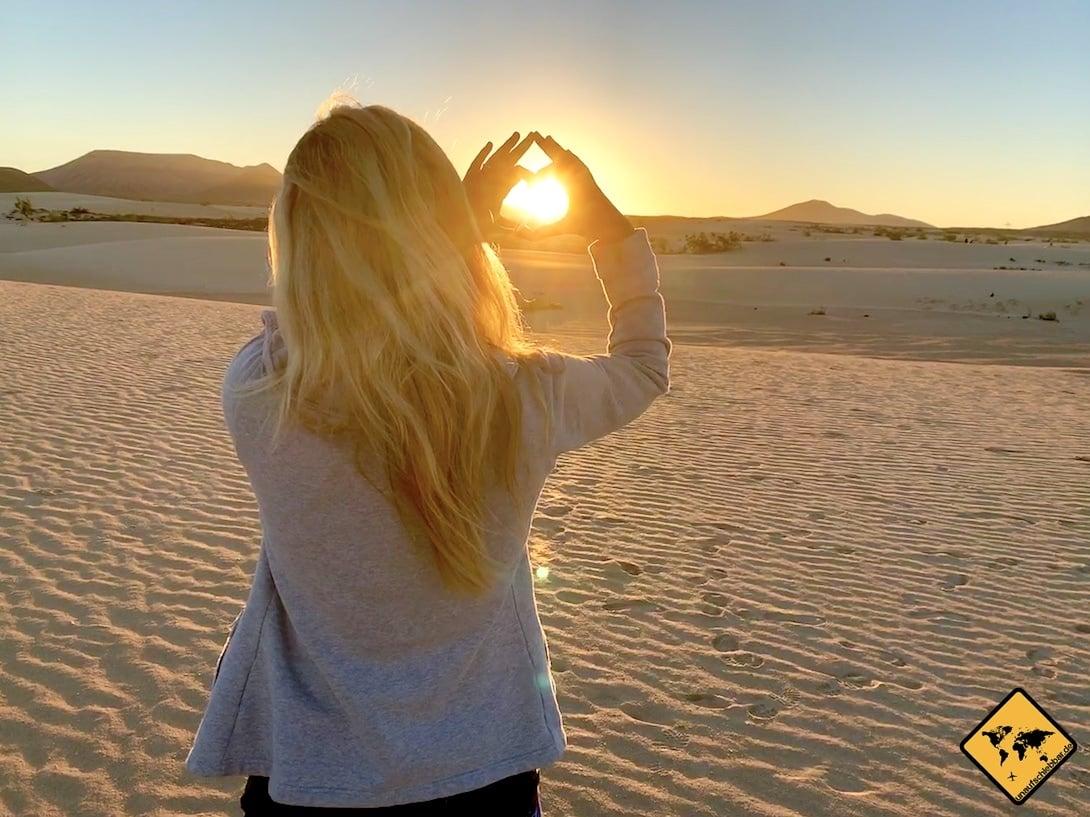 Sonnenuntergang Dünen Corralejo
