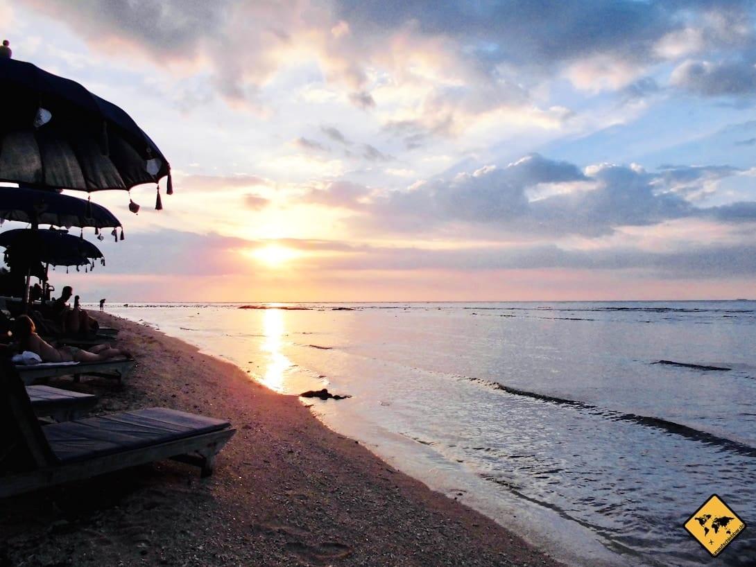 Sonnenuntergang Gilis Strand Meer