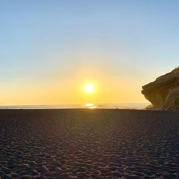 Sonnenuntergang Meer Strand Ajuy Fuerteventura