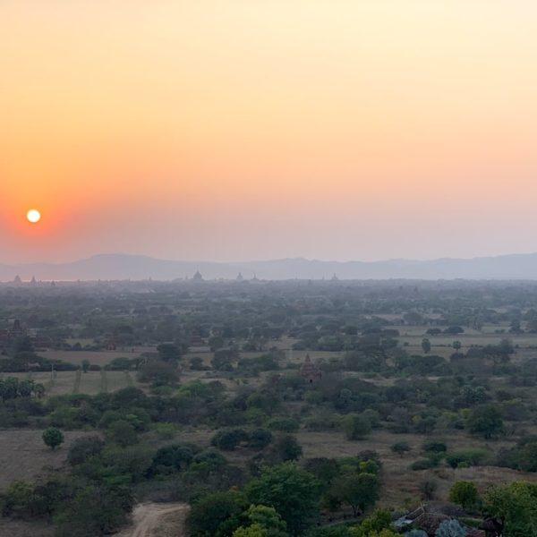 Sonnenuntergang Nan Myint Tower Bagan Myanmar