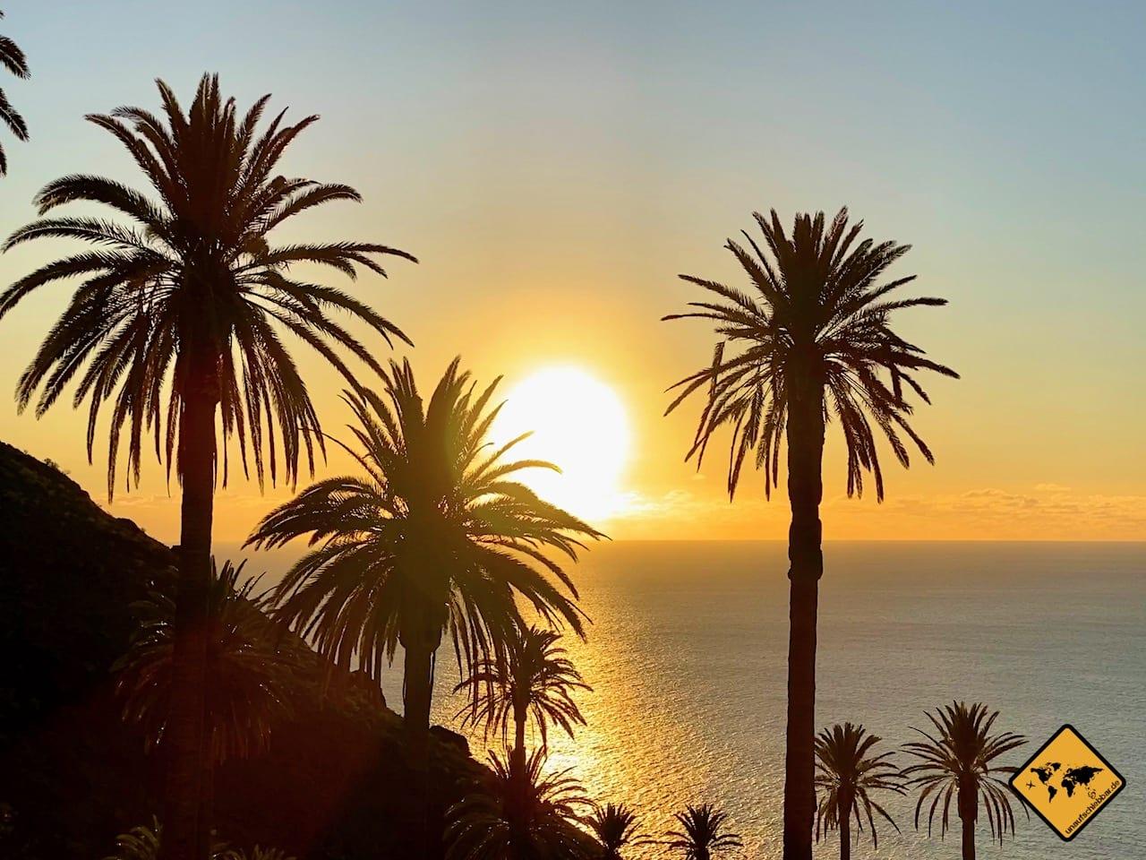 Sonnenuntergang Palmen Taguluche