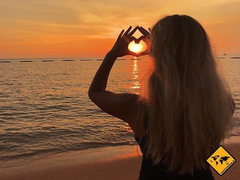 Sonnenuntergang Pattaya Beach
