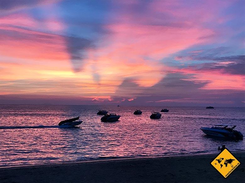 Sonnenuntergang Pattaya Thailand