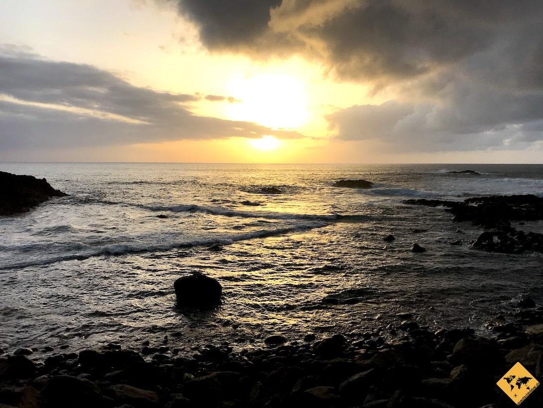 Sonnenuntergang Playa de la Arena Tacoronte