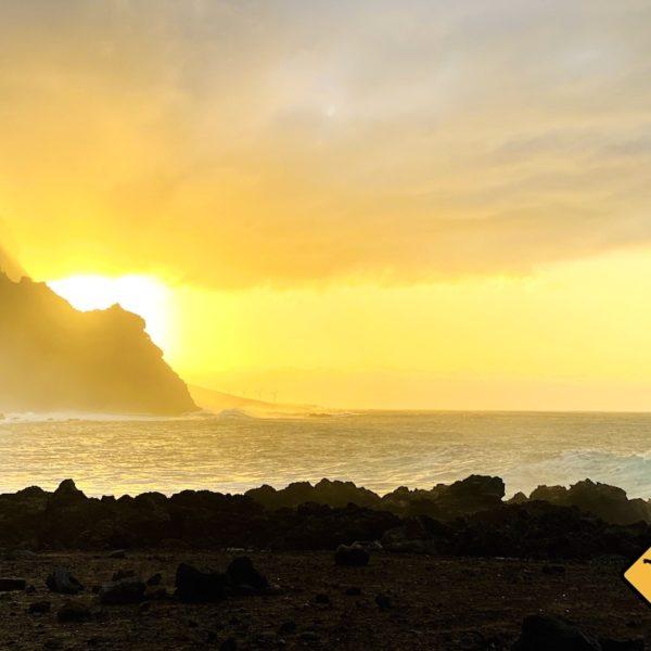 Sonnenuntergang Playa de las Arenas Dezember