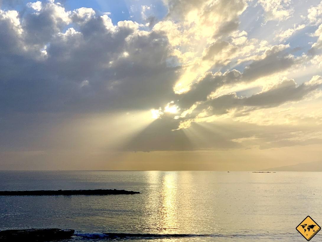 Sonnenuntergang Playa del Duque Teneriffa