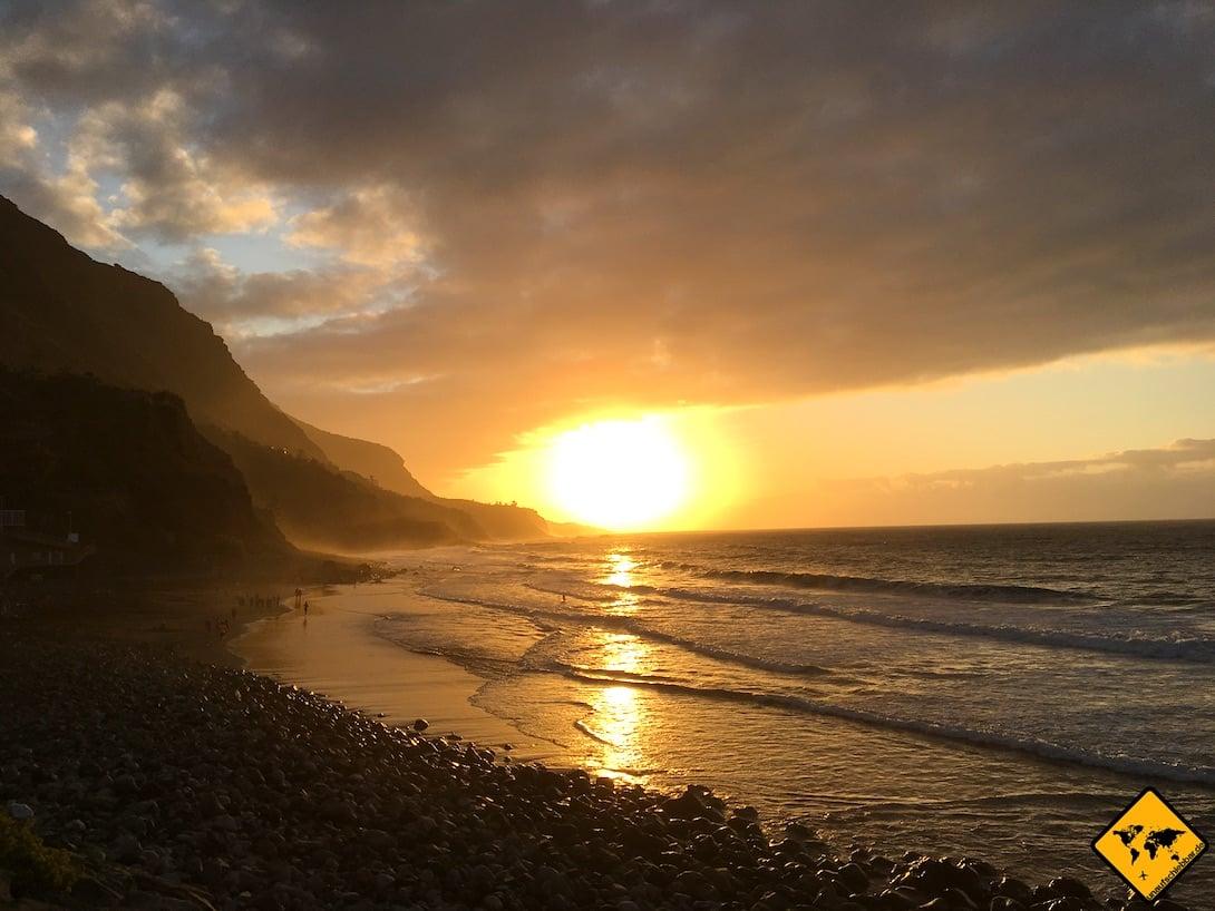 Der Sonnenuntergang am Playa del Socorro ist besonders schön