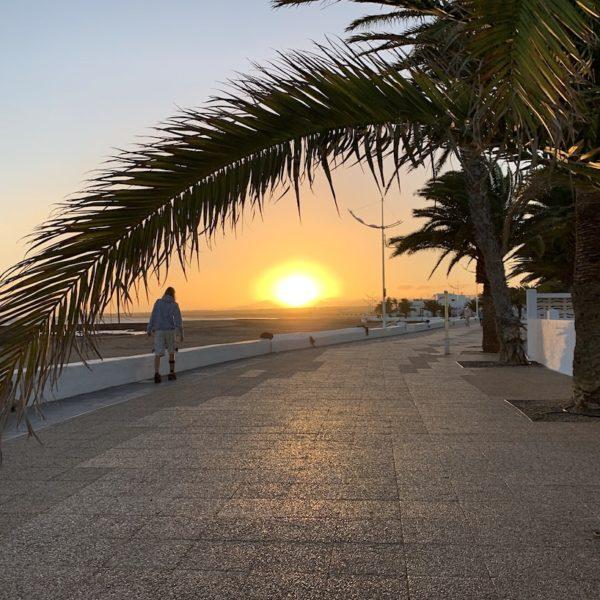 Sonnenuntergang Promenade Puerto del Carmen Lanzarote