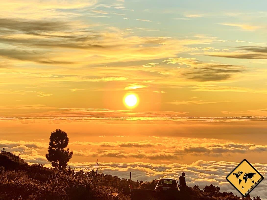 Sonnenuntergang Roque de los Muchachos La Palma Highlights