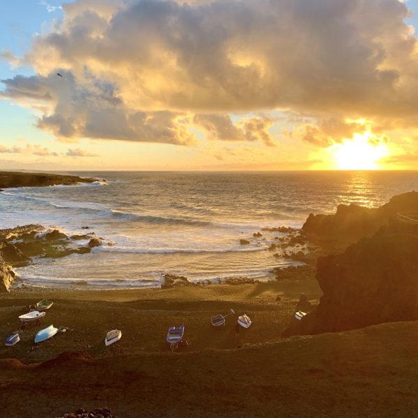 Sonnenuntergang Strand El Golfo Lanzarote