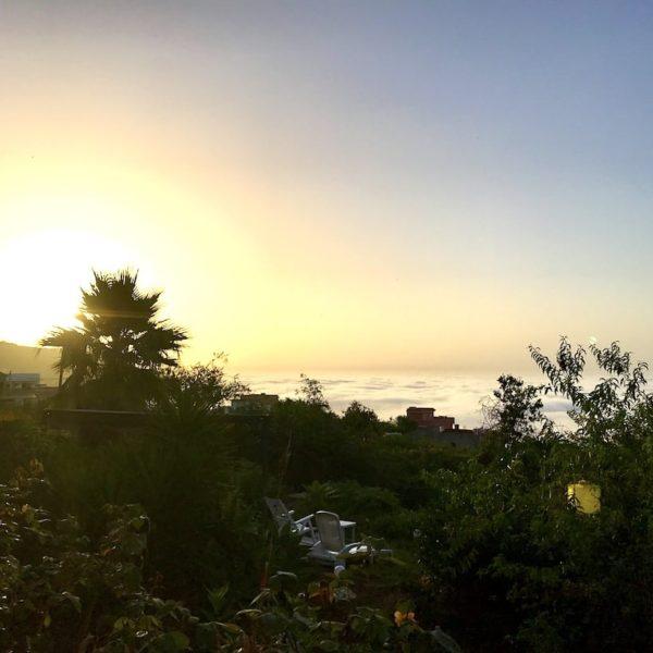 Sonnenuntergang Wolken Icod Teneriffa
