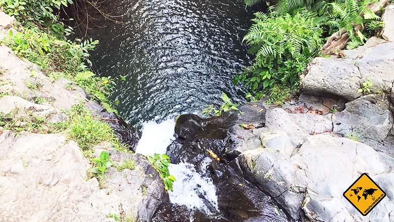 Sprung Wasserfall Geopark Rinjani