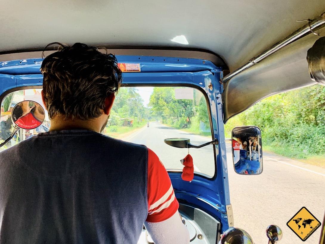 Sri Lanka Kosten Tuk Tuk Transport