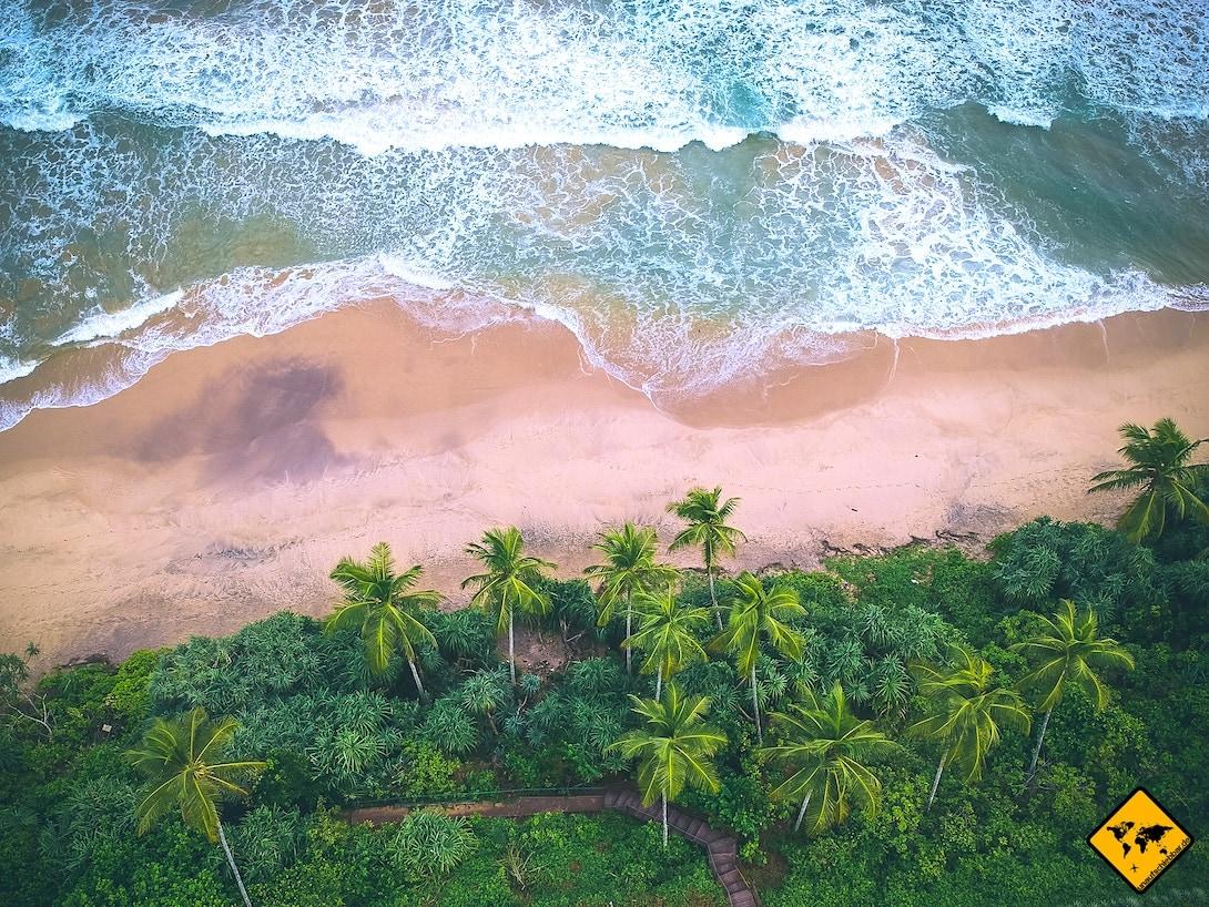 Sri Lanka Strand Meer Luftaufnahme