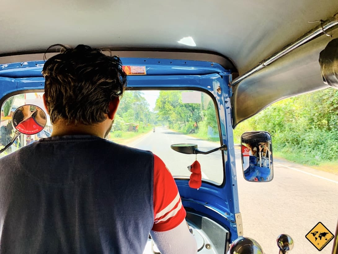 Sri Lanka Tuk Tuk Anfahrt Wanderung Little Adam's Peak