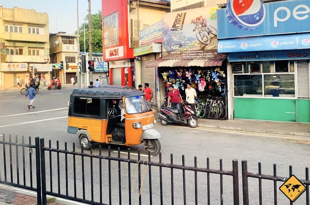 Sri Lanka Urlaub gefährlich Tuk Tuk