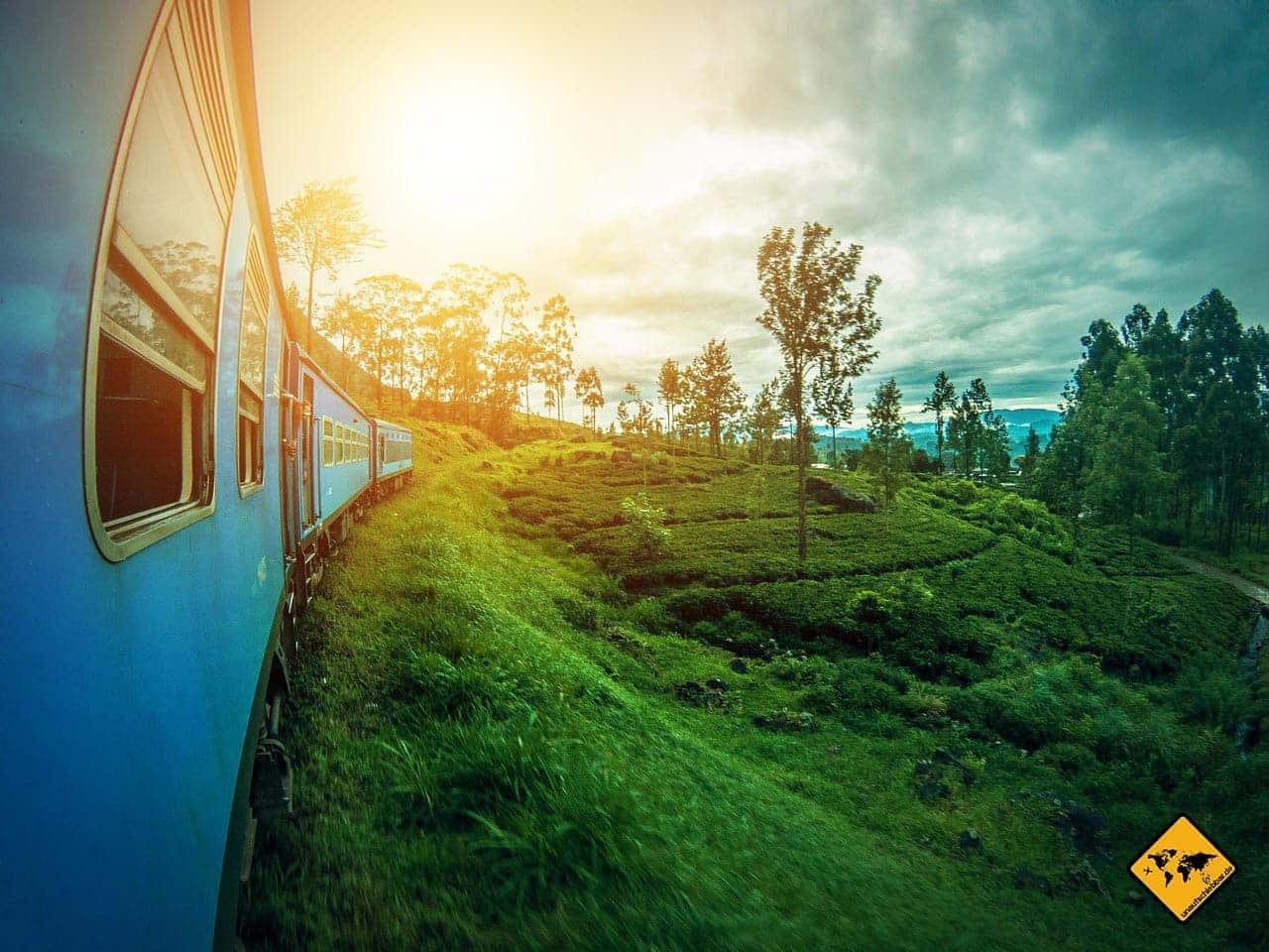 Sri Lanka Visum Zugfahrt