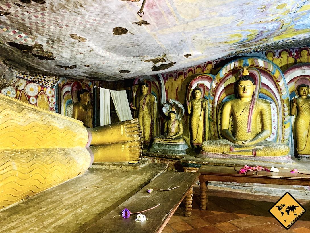 Sri Lanka oder Thailand Höhlentempel Dambulla