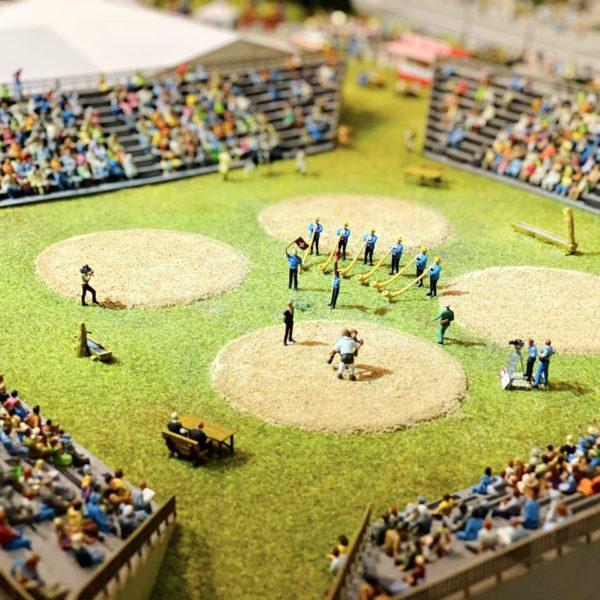 Stadion Nahansicht Miniaturwelt