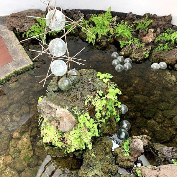 Stahlkunstwerk Teich Jardín de Cactus Lanzarote