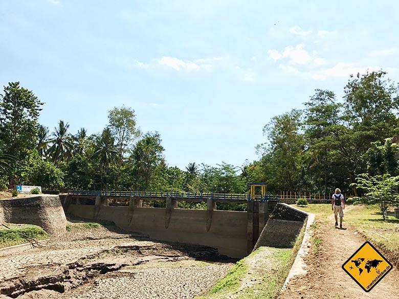 Staudamm Tiu Pupus Wasserfall Lombok