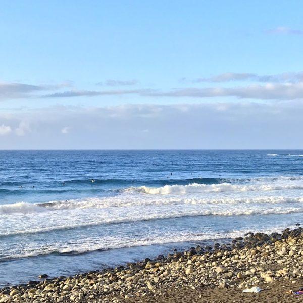 Steine Meer Playa del Socorro Strand auf Teneriffa