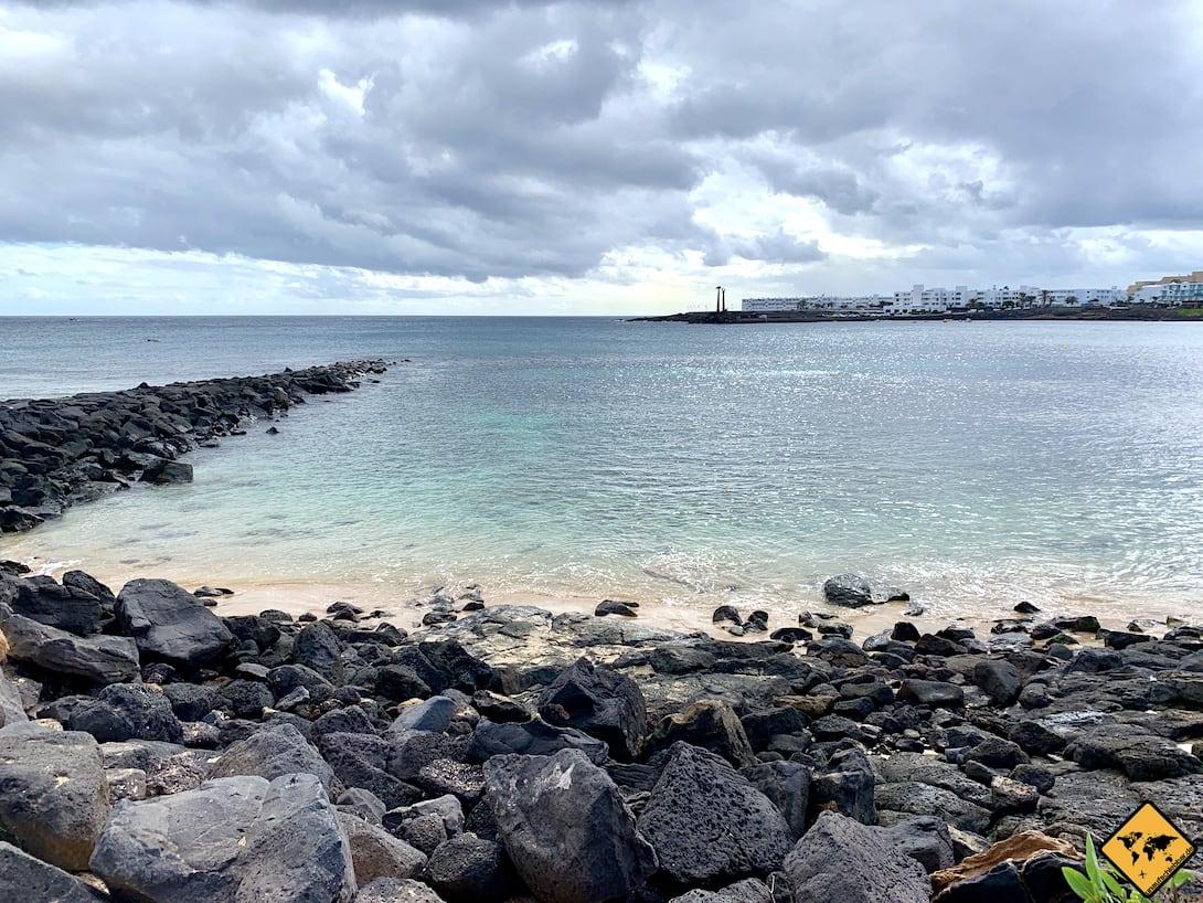 Steine Strand Costa Teguise Lanzarote