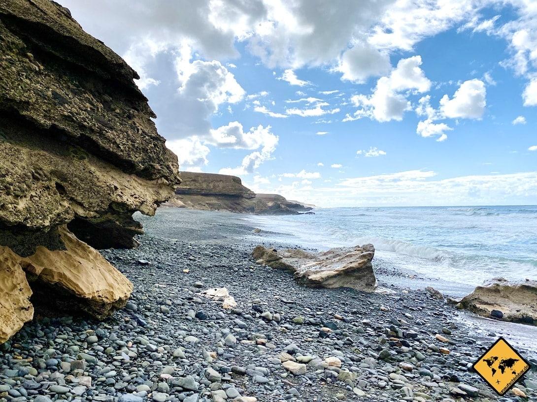 Steinstrand Playa Garcey Westküste Fuerteventura