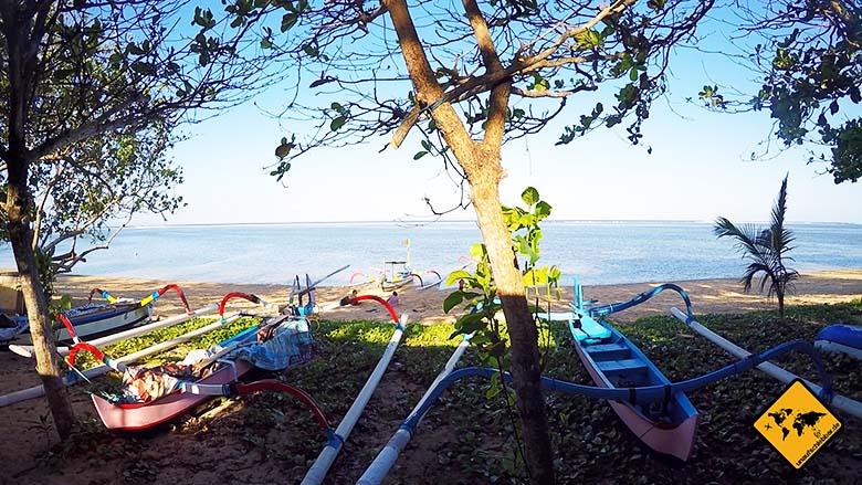Strände Bali Sanur Beach Boote