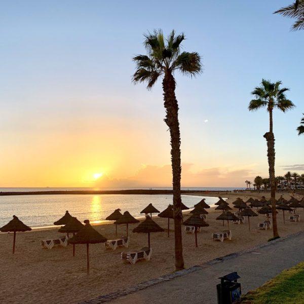 Strände Teneriffa Playas Del Camisón Sonnenuntergang