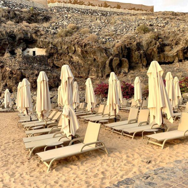 Strände auf Teneriffa Playa Abama Liegen