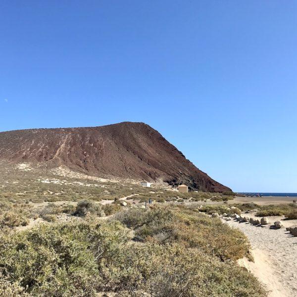 Strände auf Teneriffa Playa de la Tejita Montaña Roja