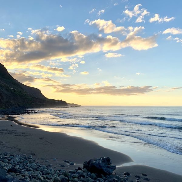 Strände auf Teneriffa Playa del Socorro Sonnenuntergang