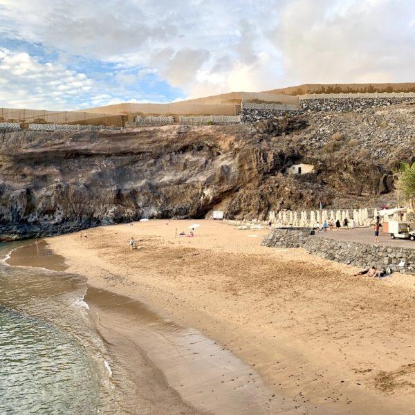 Strand flach abfallend Playa Abama Teneriffa