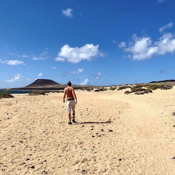 Strand zu Fuß La Graciosa Spanien