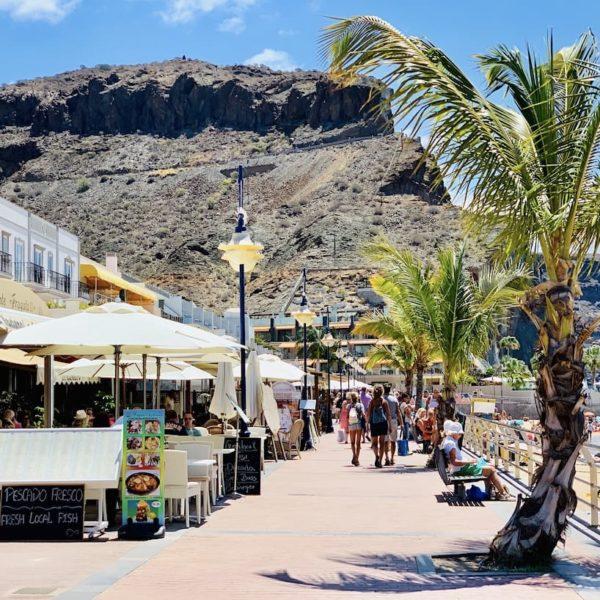 Strandpromenade Playa de Mogán Gran Canaria