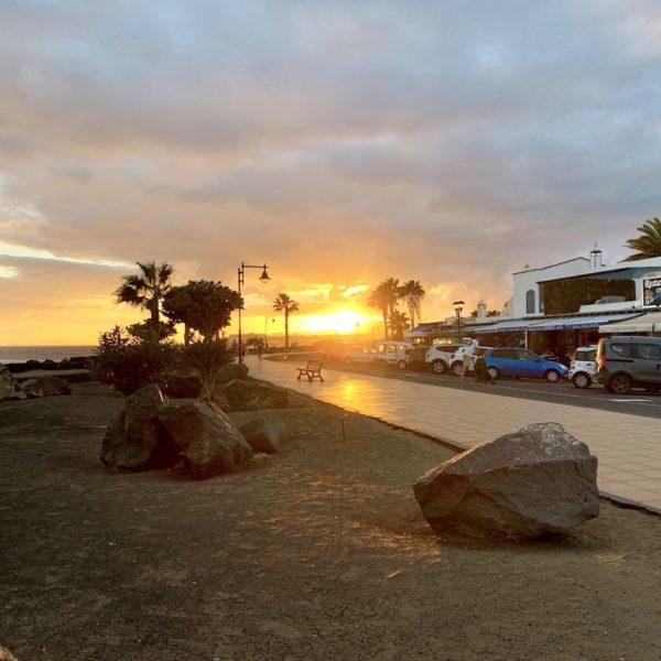 Strandpromenade Sonnenuntergang Puerto del Carmen Lanzarote