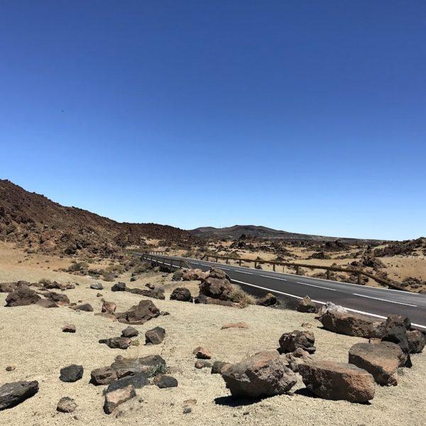Straße Minas de San Jose Teide Nationalpark