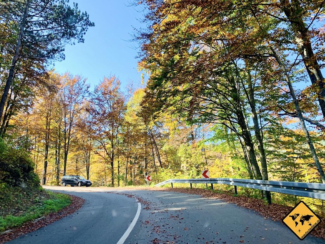 Straße Naturpark Učka Kroatien