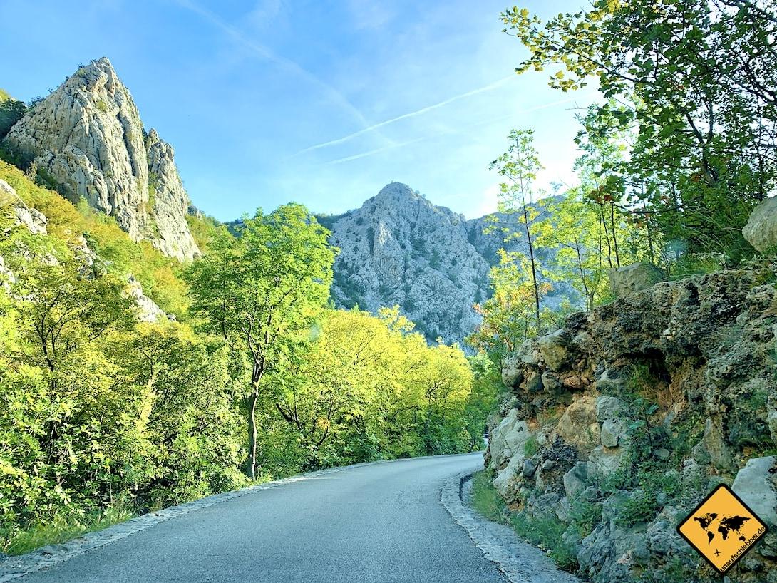 Straße Paklenica Nationalpark Kroatien