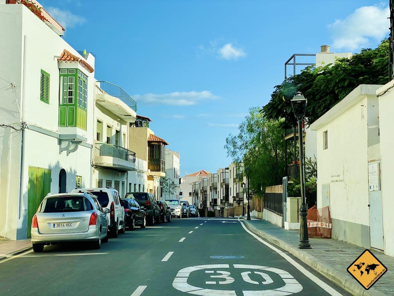 Straße Playa Santiago La Gomera