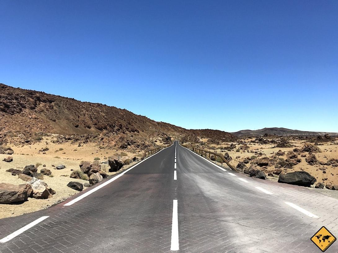 Straße Teneriffa Teide Nationalpark Sehenswürdigkeiten