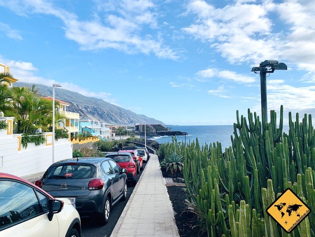 Straße parken Puerto Naos La Palma